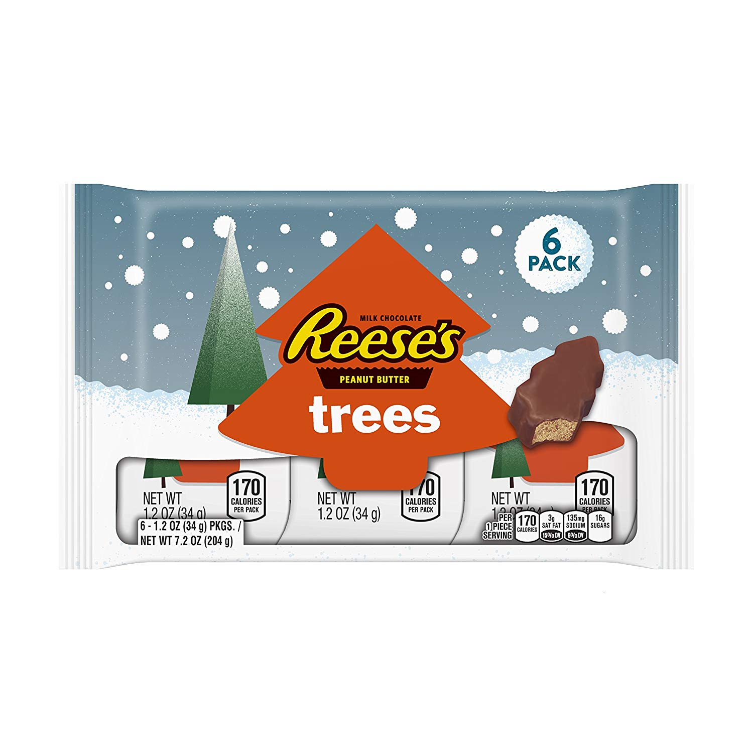 Christmas Colored Reese S Pieces With Amazon Com REESE Holiday Peanut Butter Trees 6 Count 1 2 Ounce