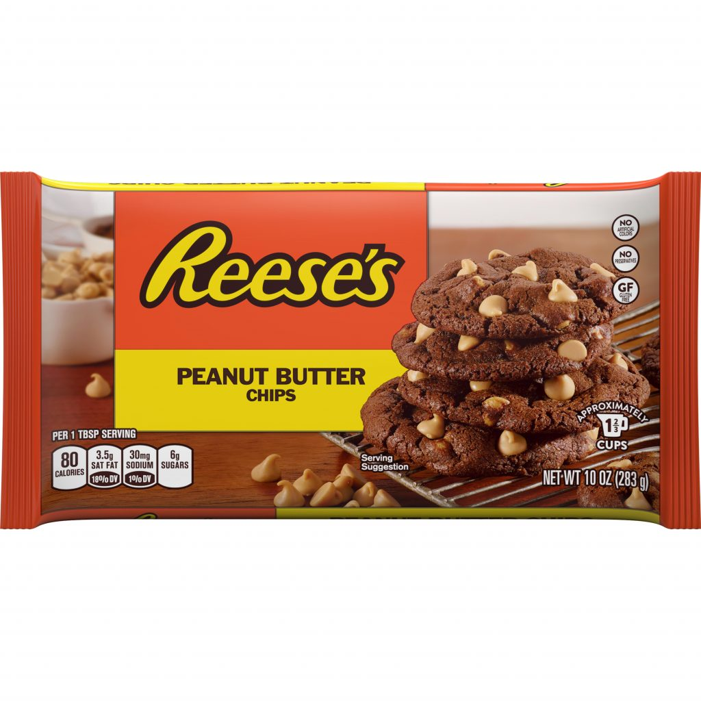 Christmas Colored Reese S Pieces With Peanut Butter Baking Chips 10 Oz Walmart Com