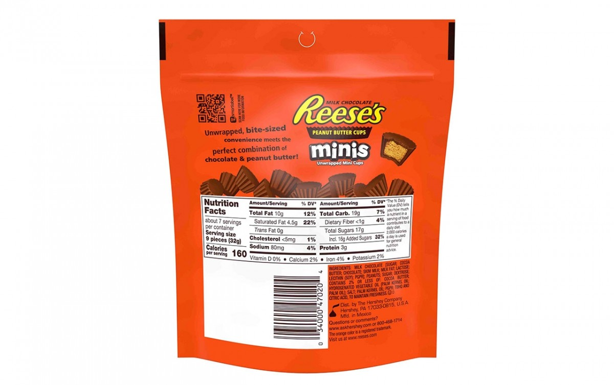 Christmas Colored Reese S Pieces With REESE Peanut Butter Cups Minis 8 Oz 4 Count