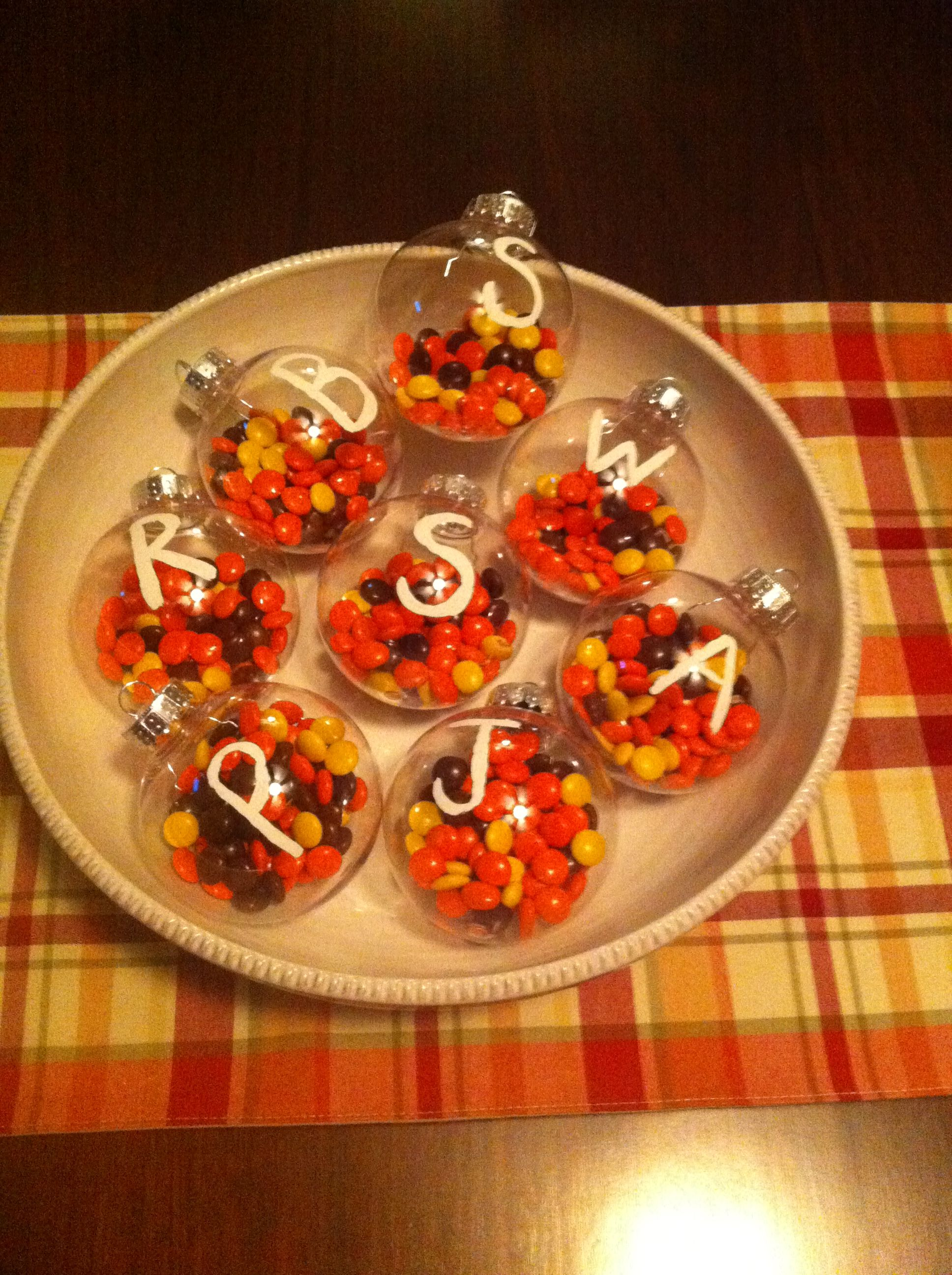 Christmas Colored Reese S Pieces With Walmart 88 Cents Ornaments A White Pen And Candy