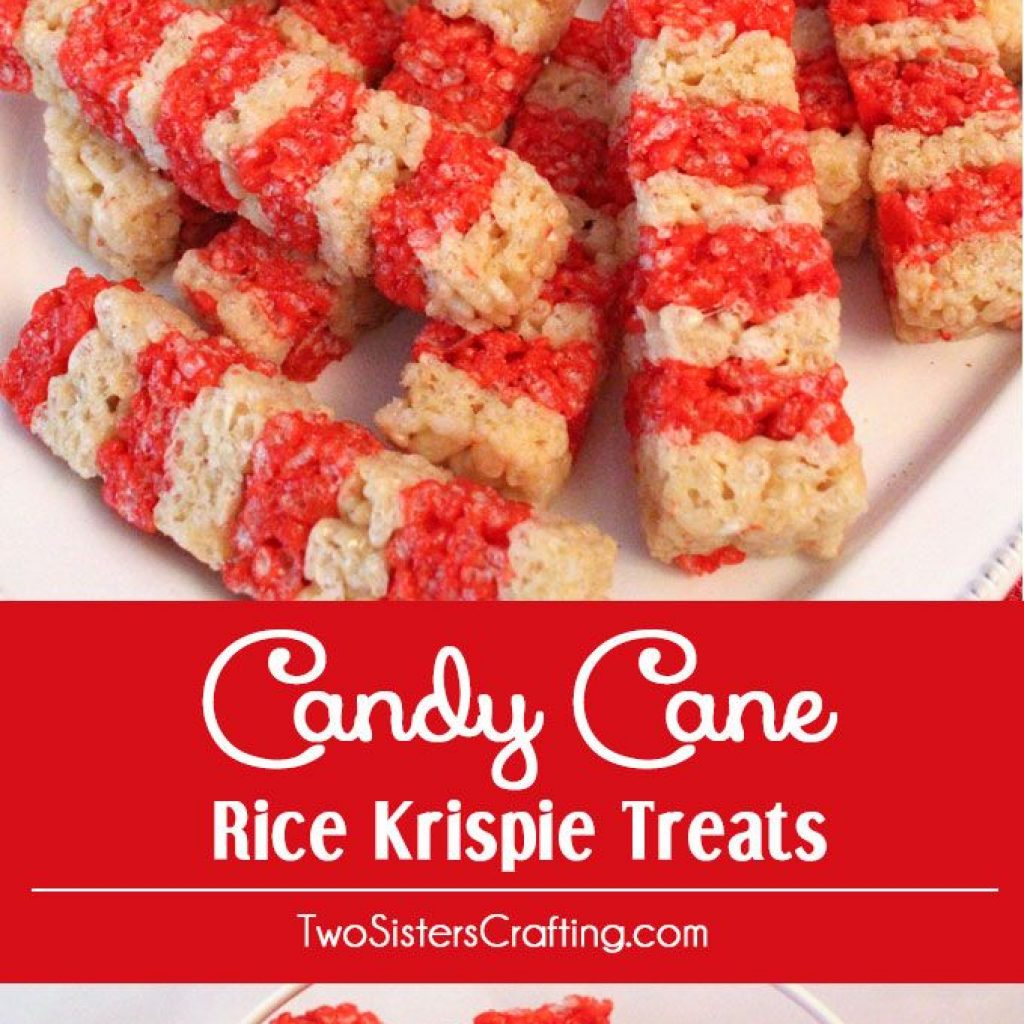 Christmas Colored Rice Crispy Treats With Candy Cane Krispie Pinterest Desserts