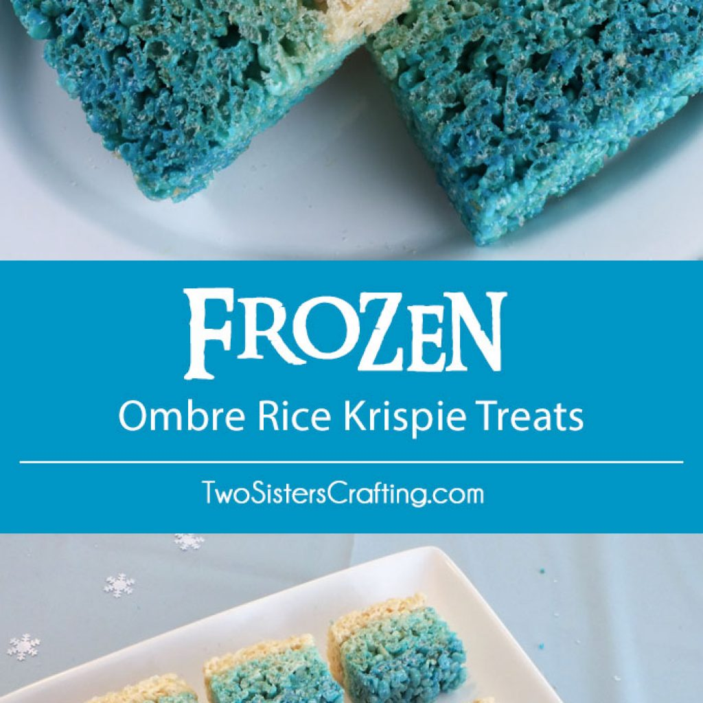 Christmas Colored Rice Crispy Treats With Disney Frozen Ombre Krispie Two Sisters