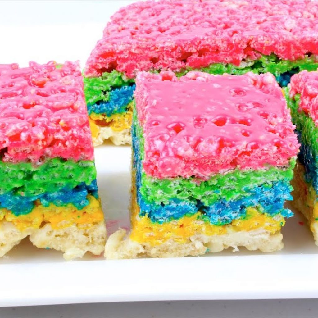 Christmas Colored Rice Crispy Treats With Rainbow Krispies YouTube
