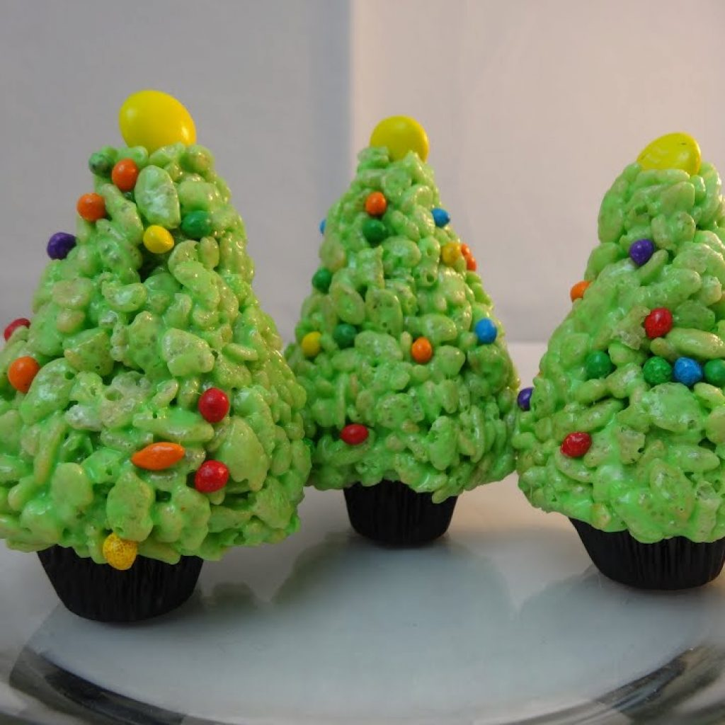 Christmas Colored Rice Krispie Treats With Krispies Cereal Treat Trees Yoyomax12 YouTube