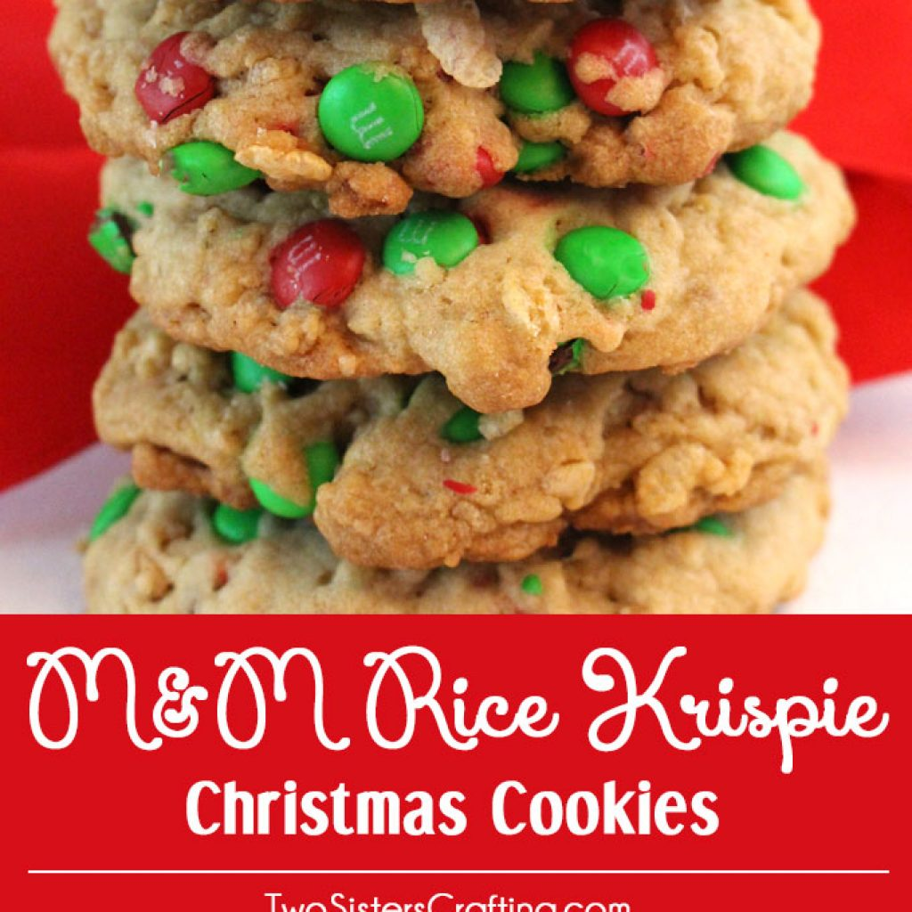 Christmas Colored Rice Krispie Treats With M Cookies Two Sisters