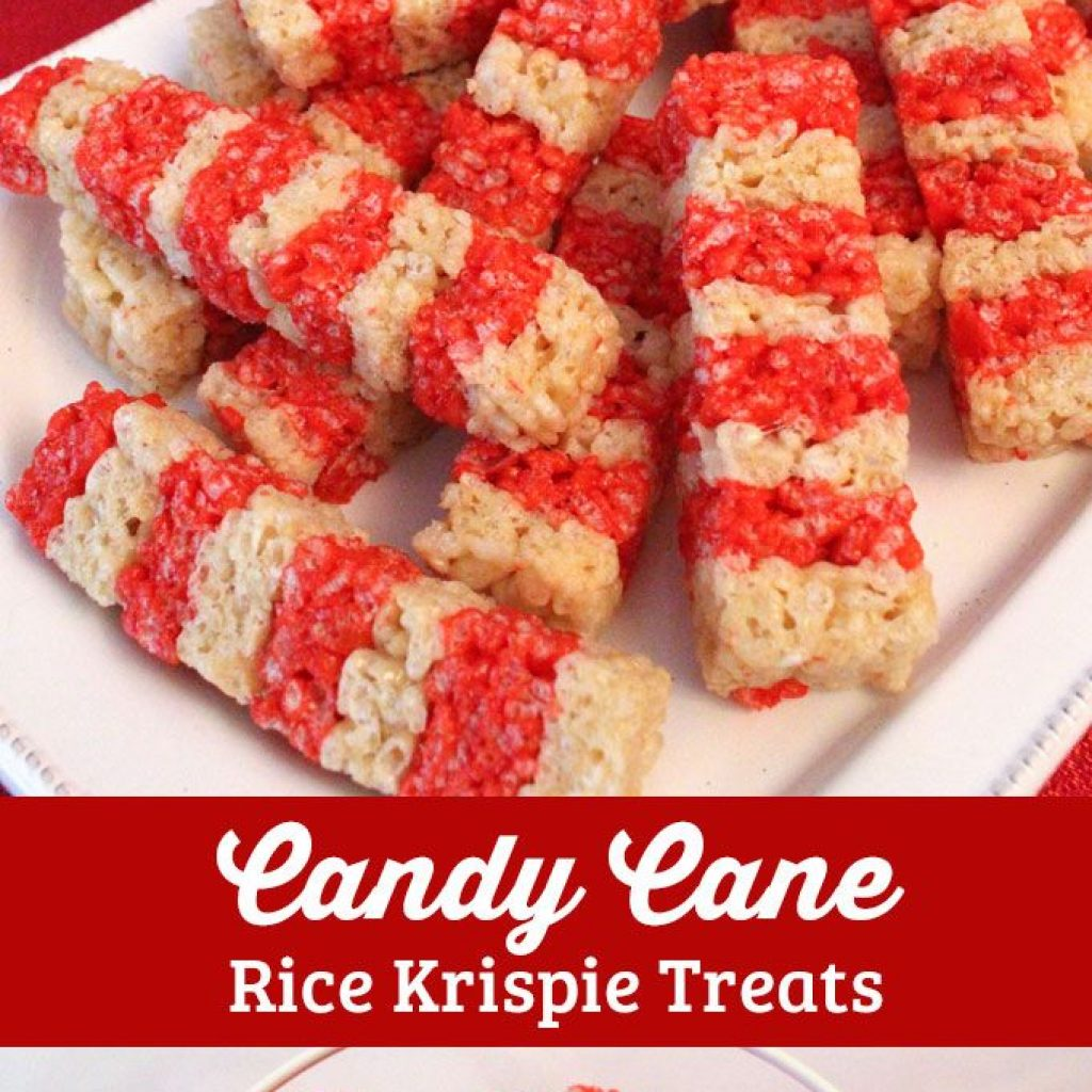 Christmas Colored Rice Krispies With Candy Cane Krispie Treats Two Sisters Crafting Blog