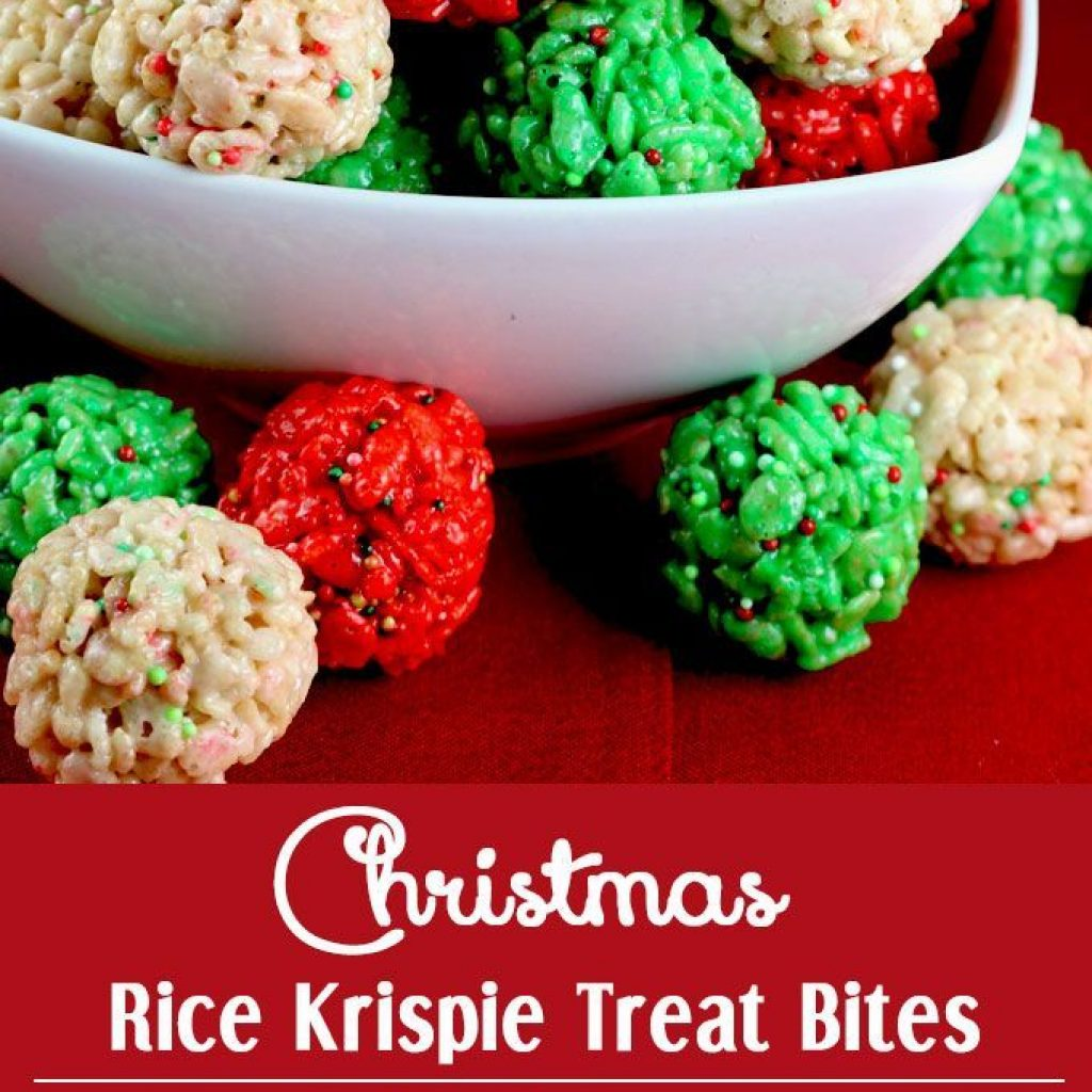 Christmas Colored Rice Krispies With Krispie Treat Bites Pinterest