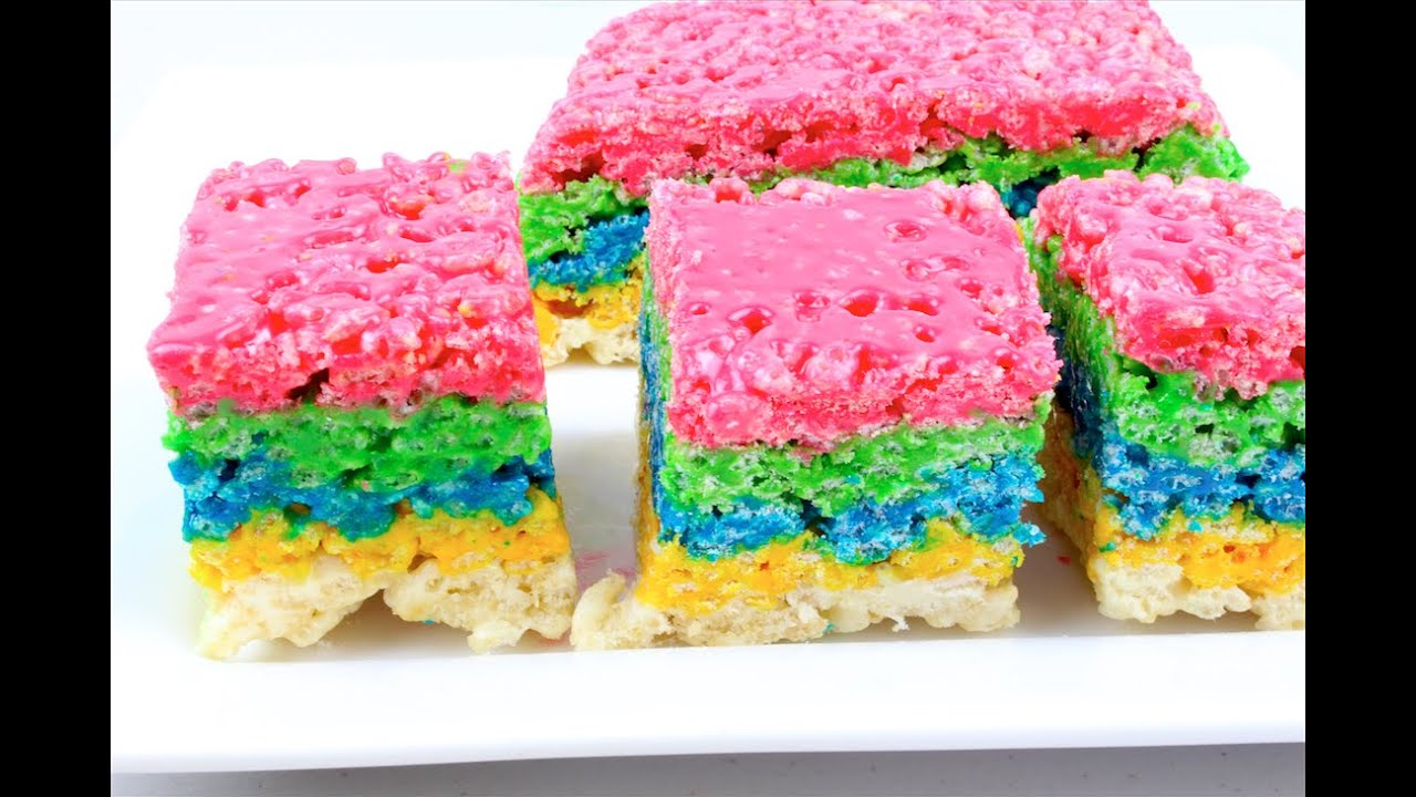 Christmas Colored Rice Krispies With Rainbow Treats YouTube