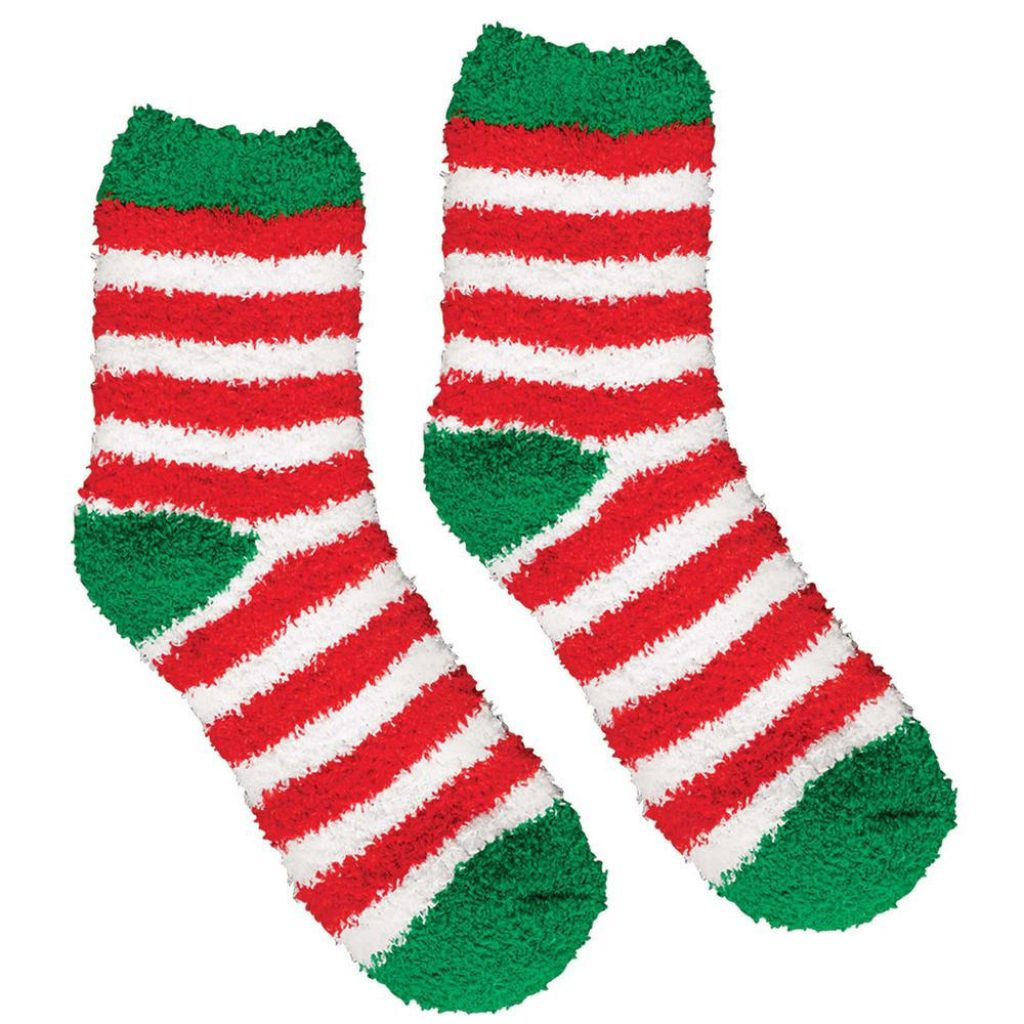 Christmas Colored Sock Yarn With Amscan 13 5 In Striped Fuzzy Socks 2 Count 4 Pack