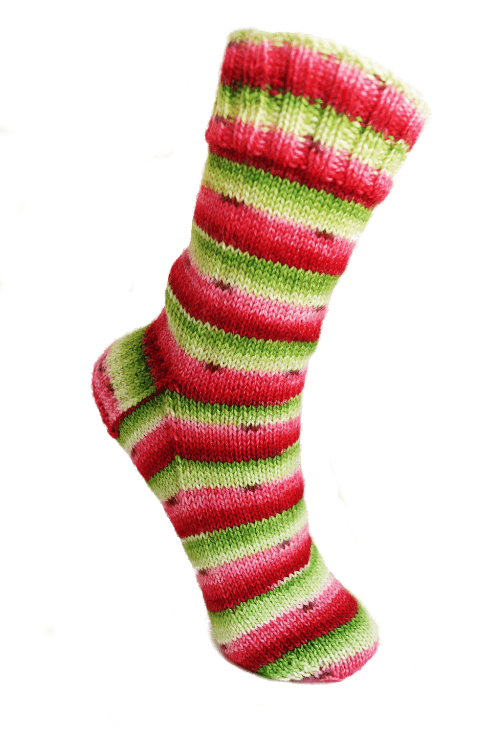 Christmas Colored Sock Yarn With Bis Watermelon Self Striping Hand Dyed