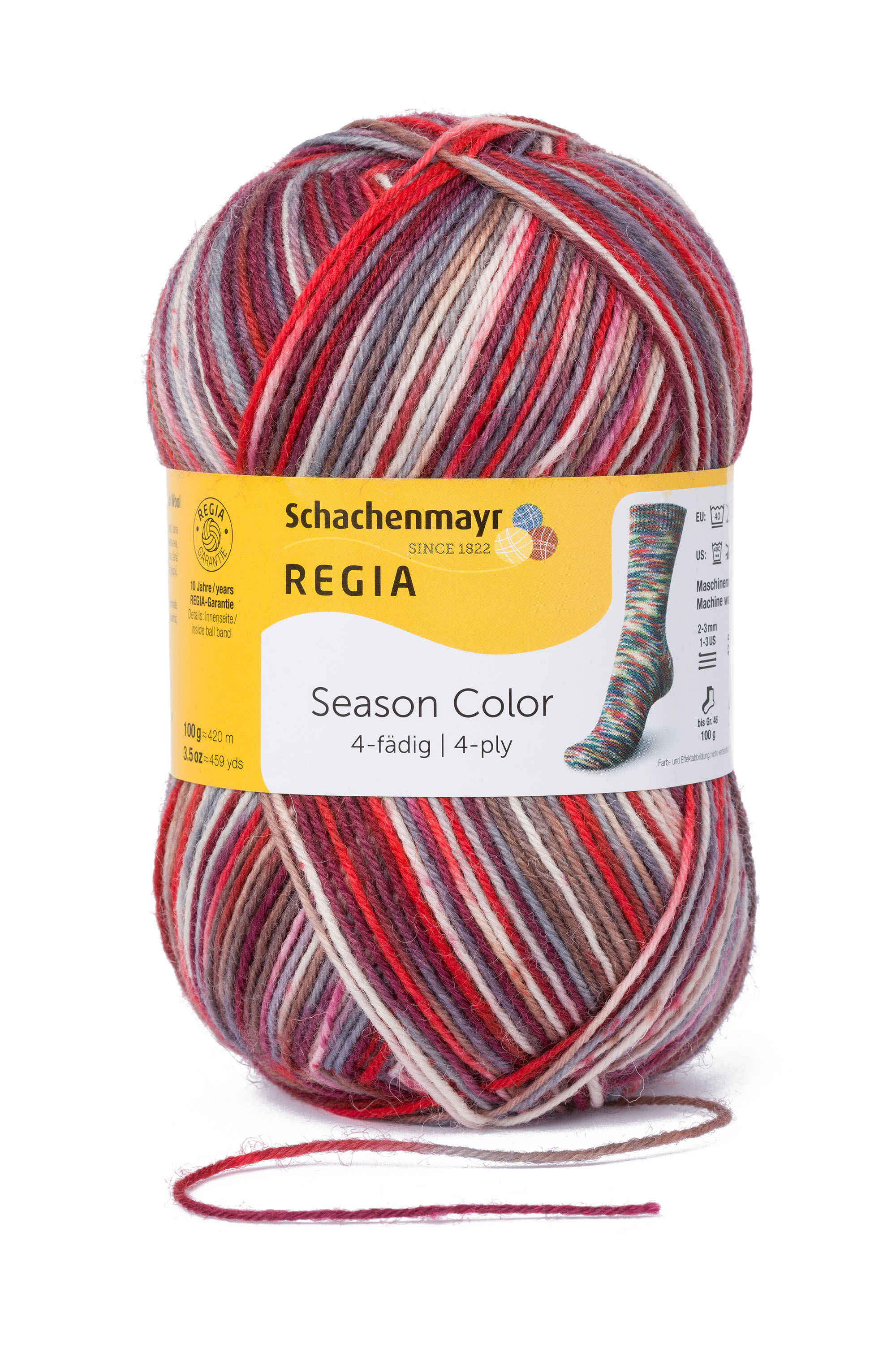 Christmas Colored Sock Yarn With Schachenmayr REGIA Season Color 4 Ply Knitting Crochet
