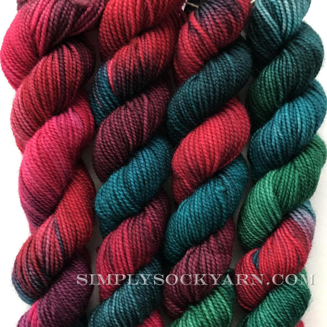 Christmas Colored Sock Yarn With US Gradiance Simply Socks Company