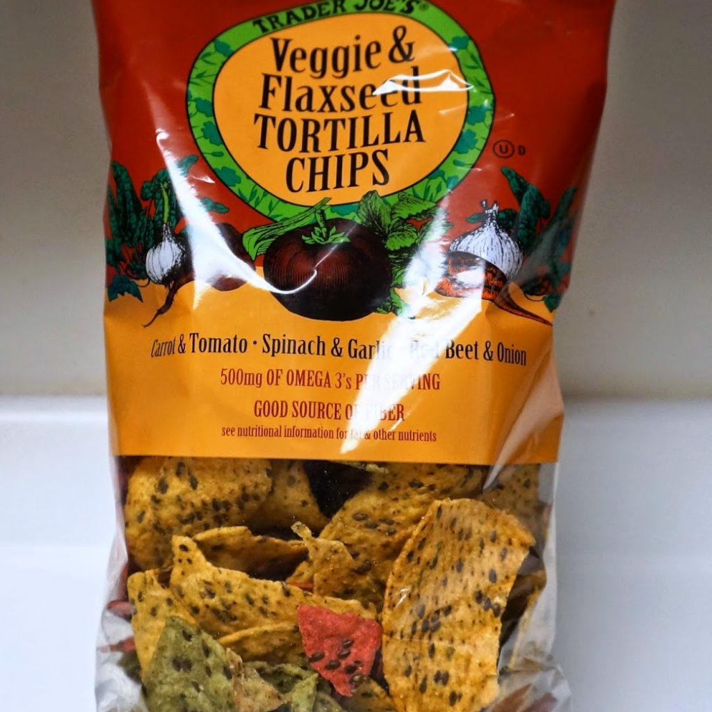 Christmas Colored Tortilla Chips With Exploring Trader Joe S Veggie Flaxseed