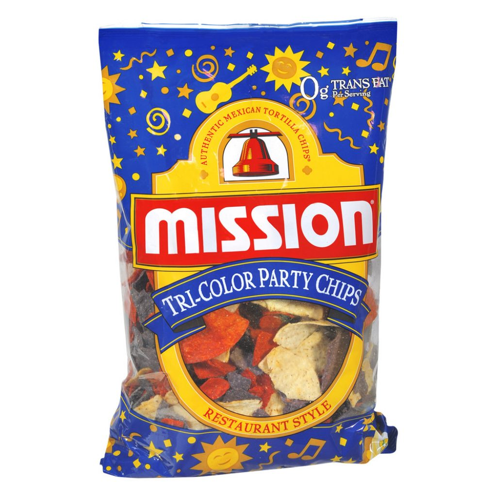 Christmas Colored Tortilla Chips With Mission Restaurant Style Tri Color Party 18 0 OZ Walmart Com