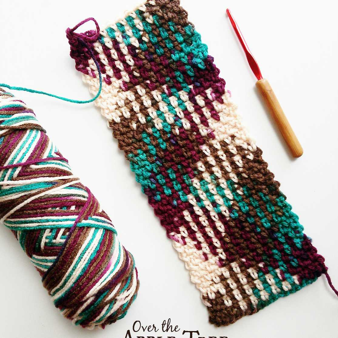 Christmas Colored Yarn With Colorwork Planned Pooling In Crochet