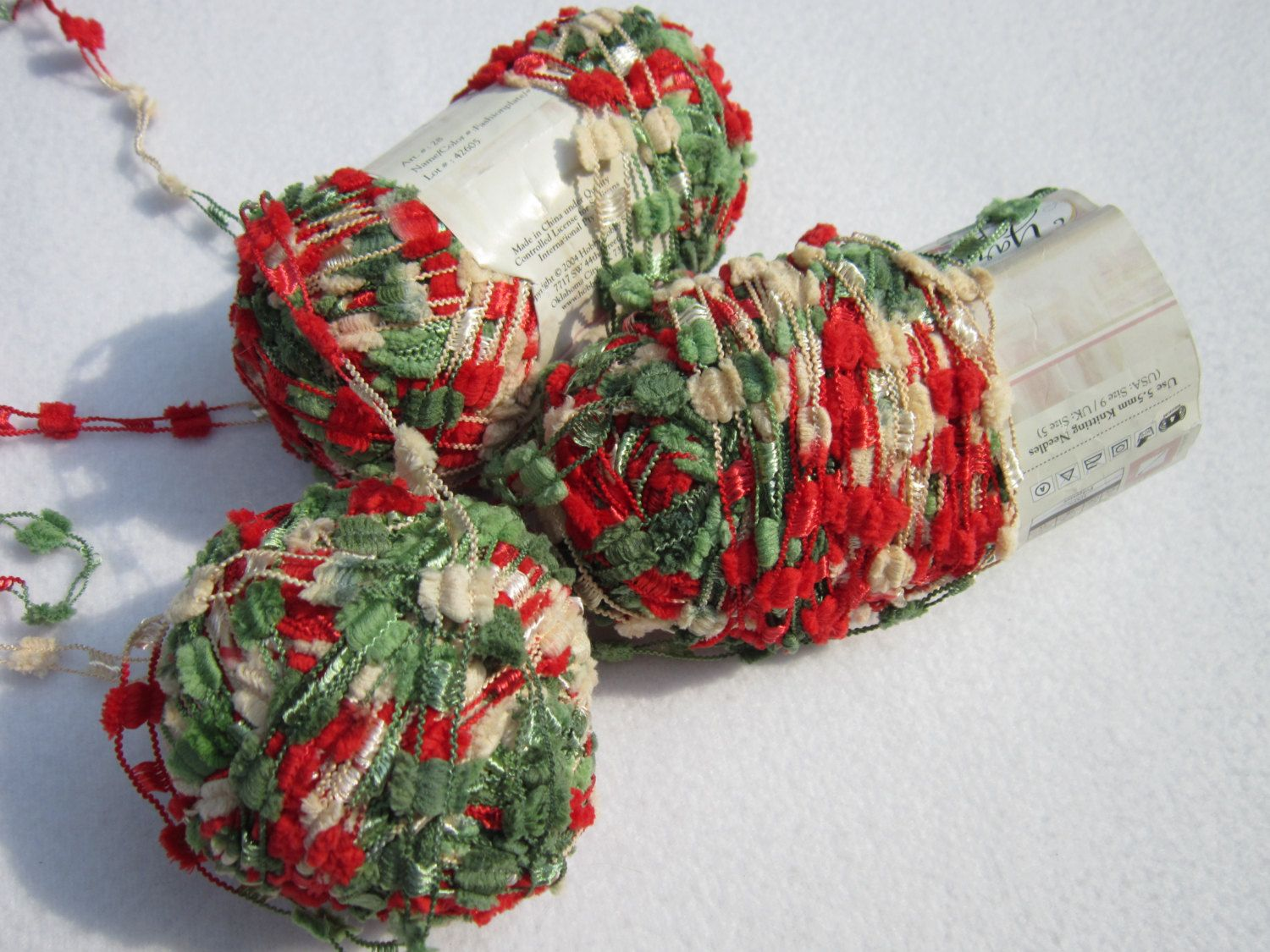Christmas Colored Yarn With Destash Bee Truffles 3 Skeins Colors Color