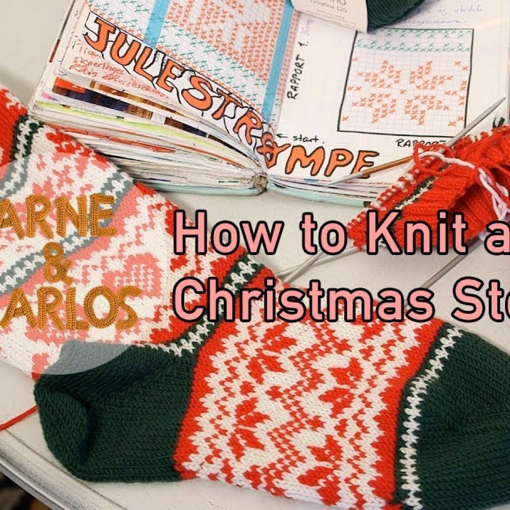 Christmas Colored Yarn With How To Knit A Stocking By ARNE CARLOS YouTube