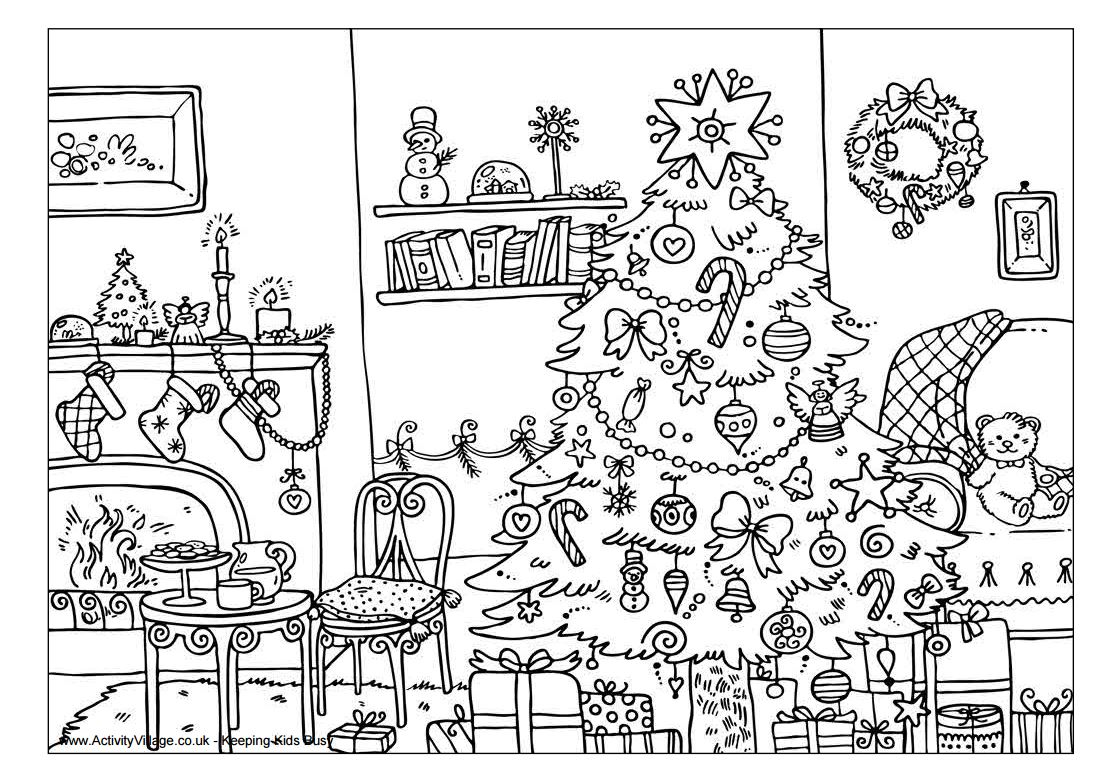 Christmas Coloring Activity Pages Printable With And Printables
