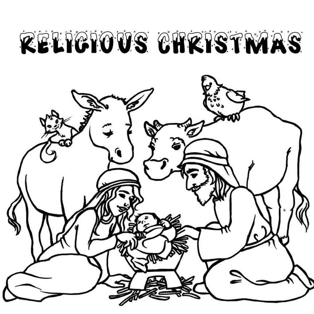 Christmas Coloring Activity Pages Printable With Print Download For Kids