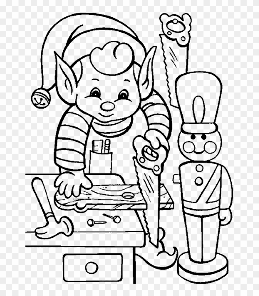 Christmas Coloring Activity Sheets With Printable Elves In Pages Elf