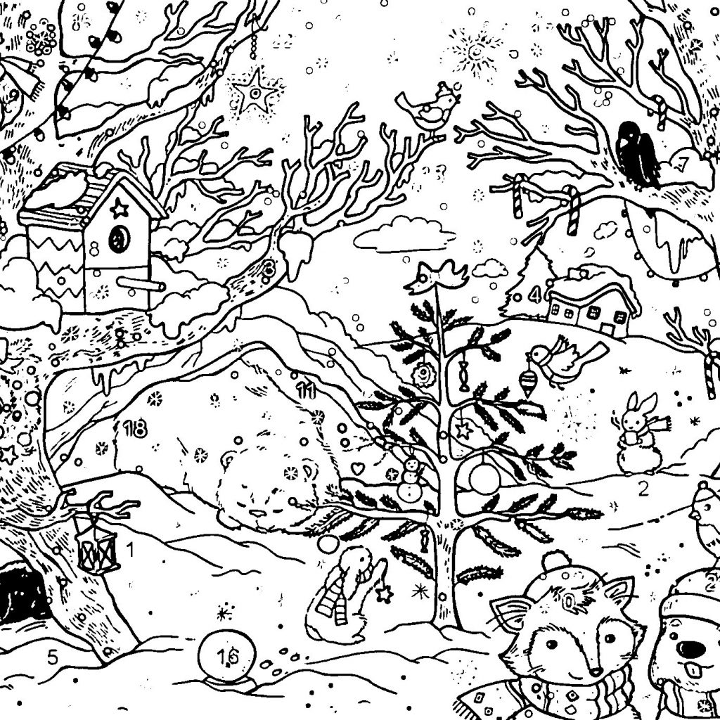 Christmas Coloring Activity Village With Pages Best