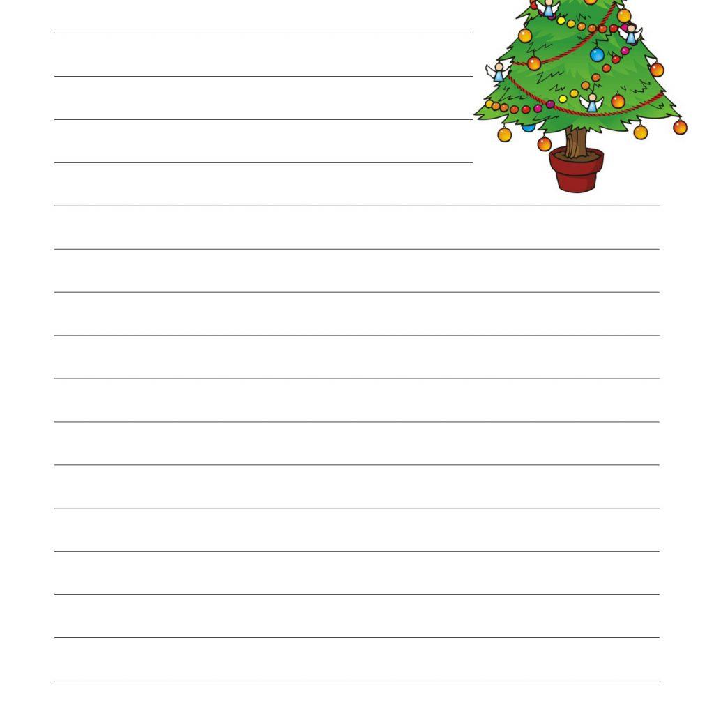 Christmas Coloring Activity Village With Tree Printables