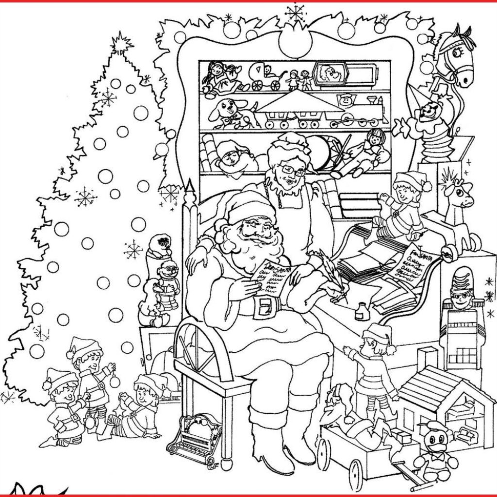 Christmas Coloring Adults With Free Pages For 19474 50 Elegant