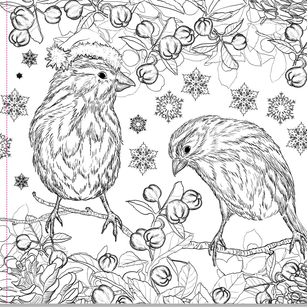 Christmas Coloring Adults With Pages For New Coking Adult