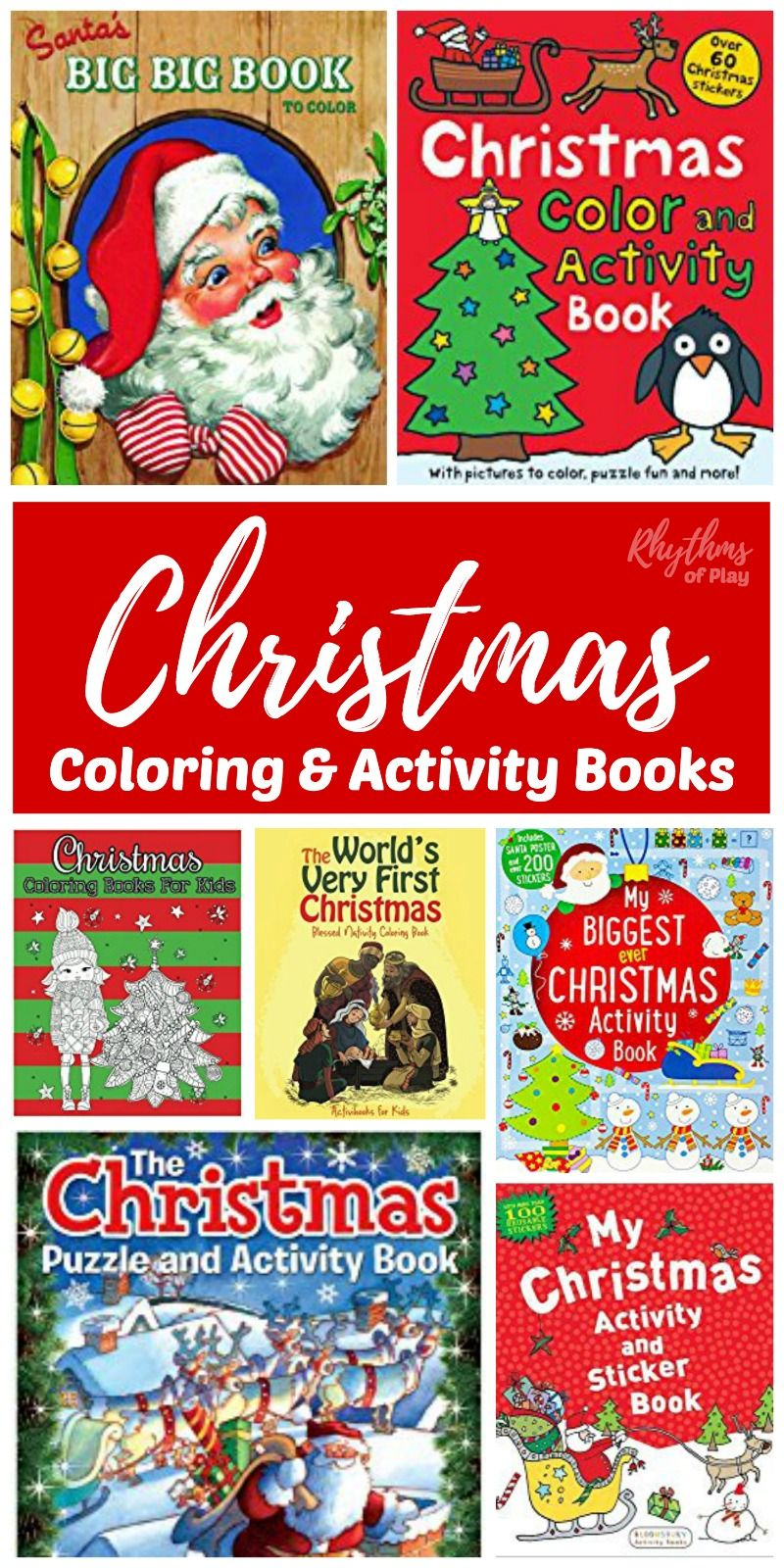 Christmas Coloring And Activity Books With For Kids Unique Gifts