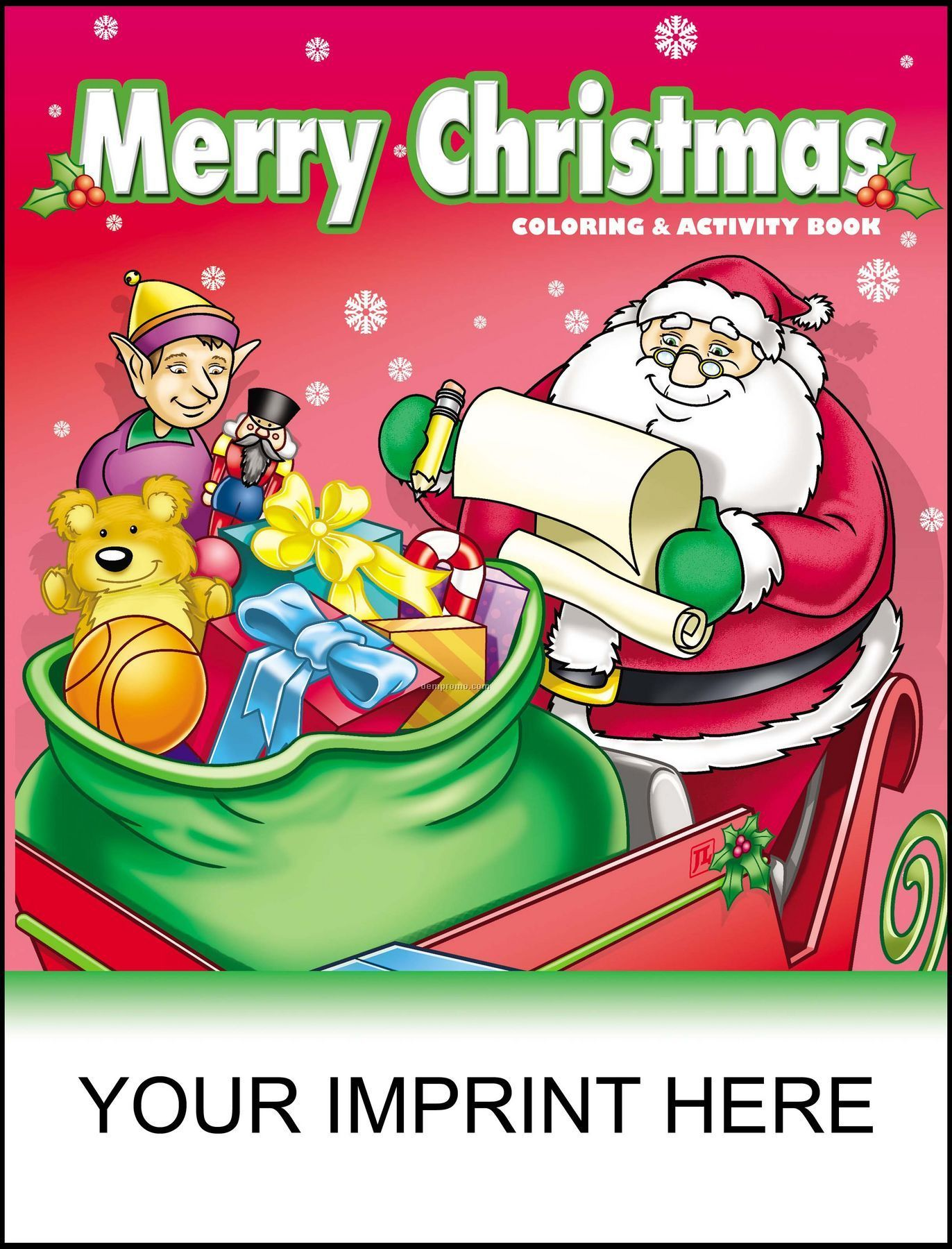 Christmas Coloring And Activity Books With Merry Book Santa Holding List China