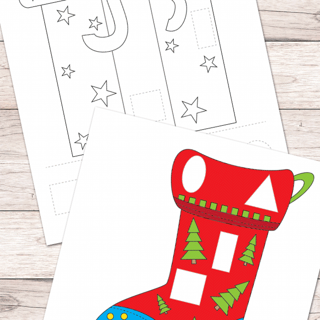 Christmas Coloring And Cutting Activities With Free Cut Glue Worksheets Easy Peasy Learners