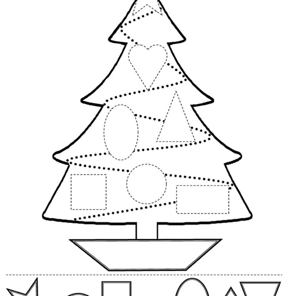 Christmas Coloring And Cutting Activities With Fun Educational For Children