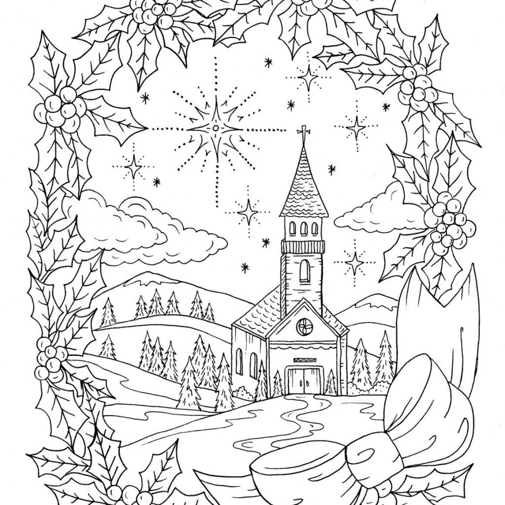Christmas Coloring Book Download With Page Instant Adult Christian