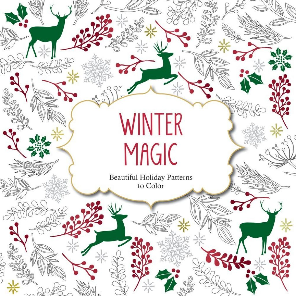 Christmas Coloring Book For Adults With Amazon Com Winter Magic Beautiful Holiday Patterns