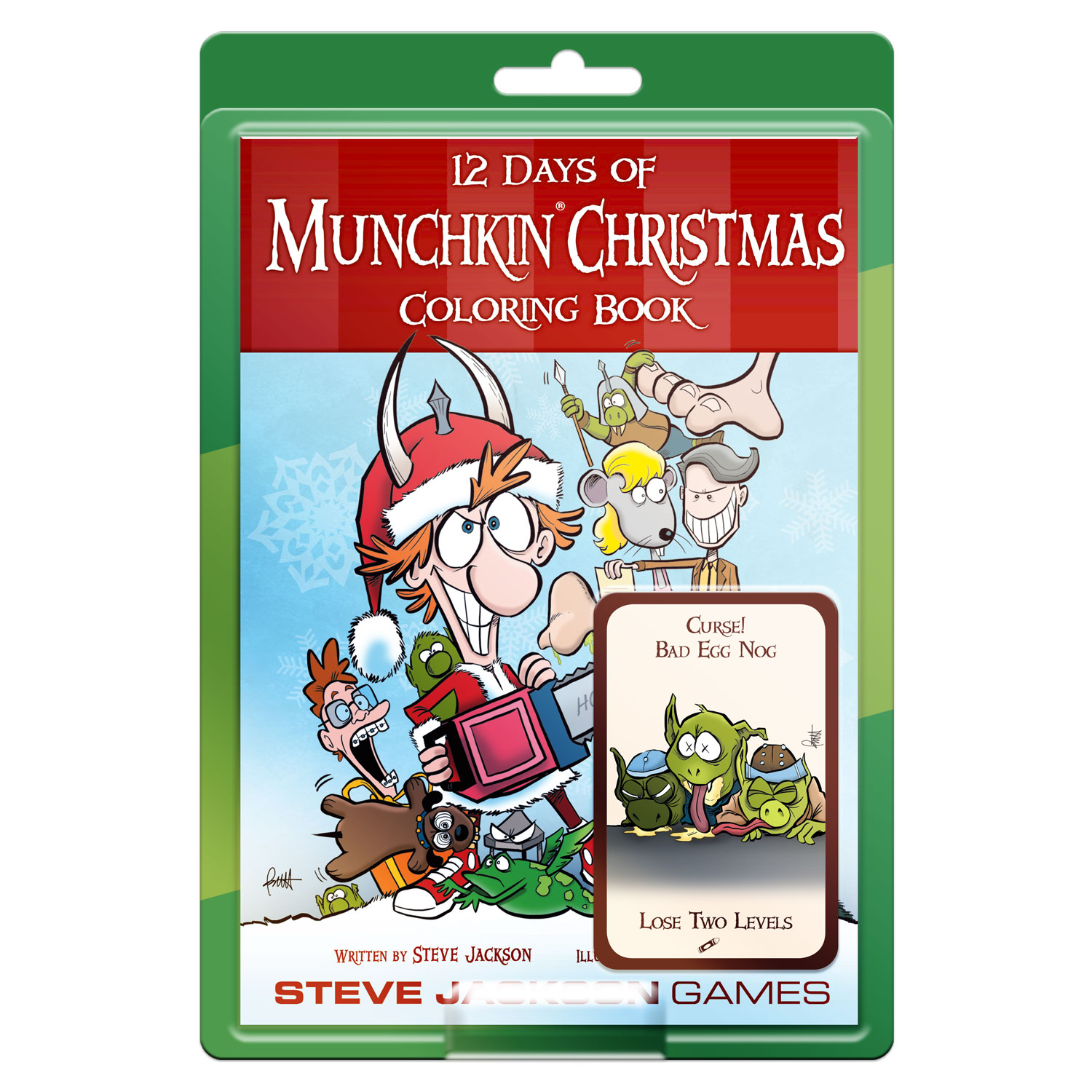 Christmas Coloring Book Games With 12 Days Of Munchkin