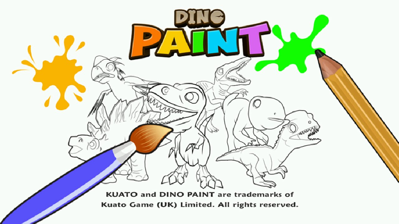 Christmas Coloring Book Games With Dino Paint For Creative Preschool Play Kuato Best App Kids