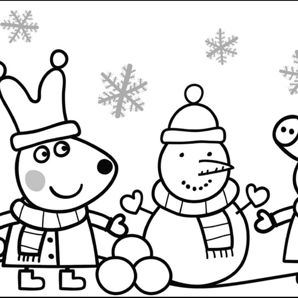Christmas Coloring Book Games With Peppa Pig Pages