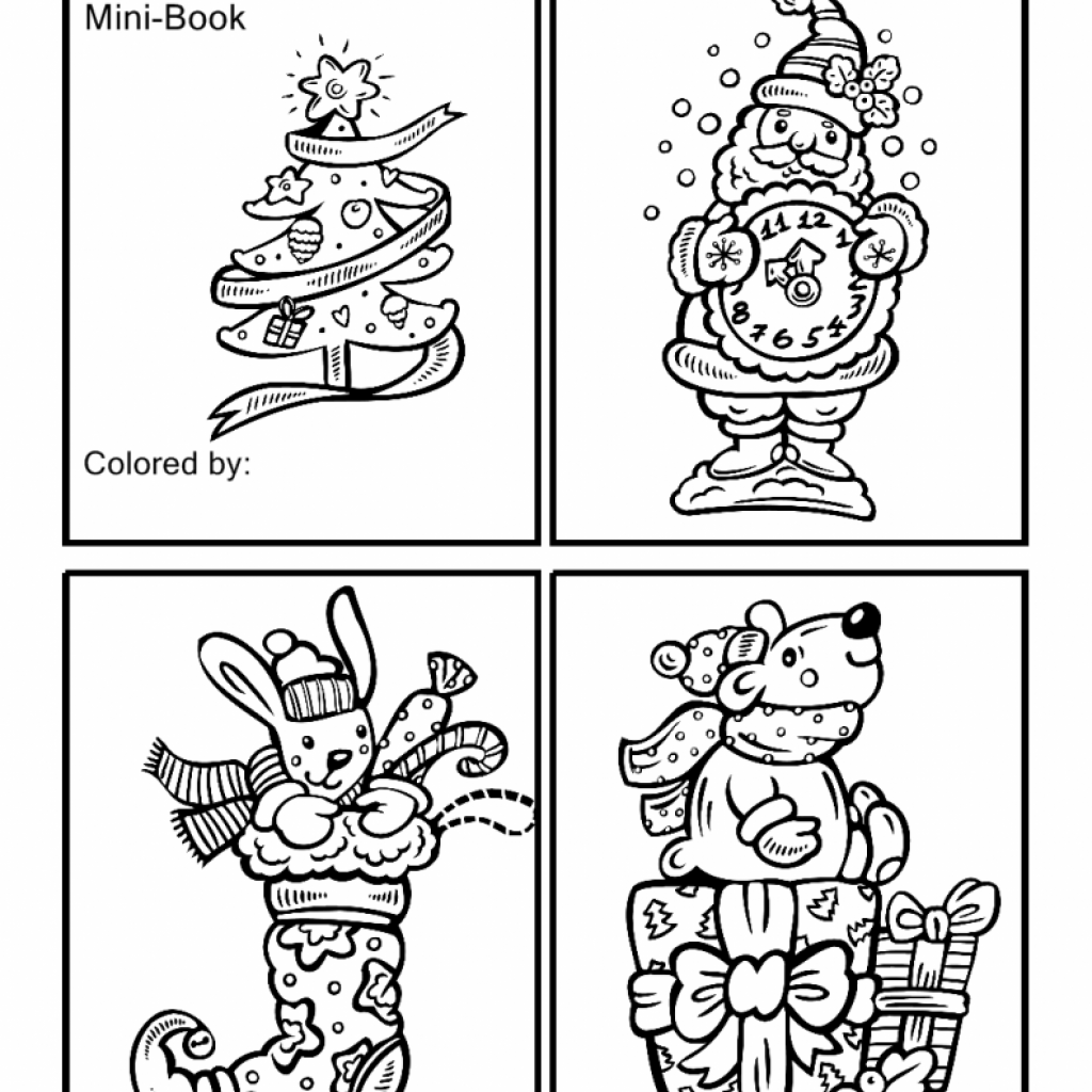 Christmas Coloring Book Games With Santa Pages