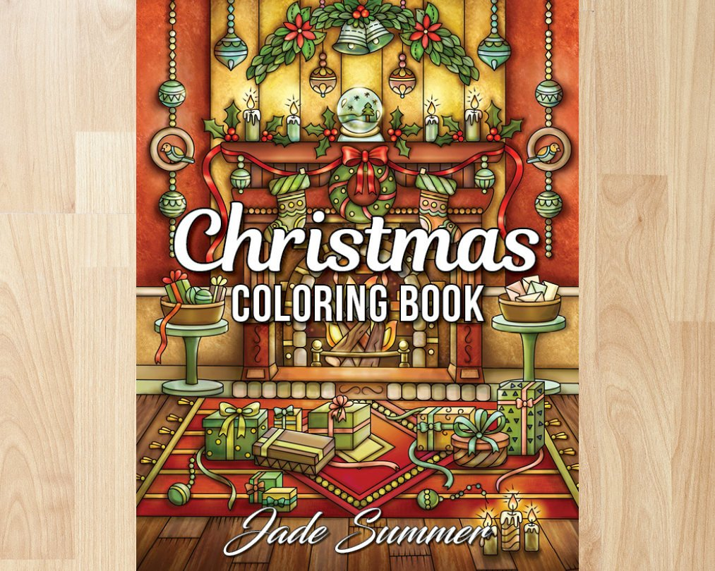Christmas Coloring Book Jade Summer With By Books Etsy