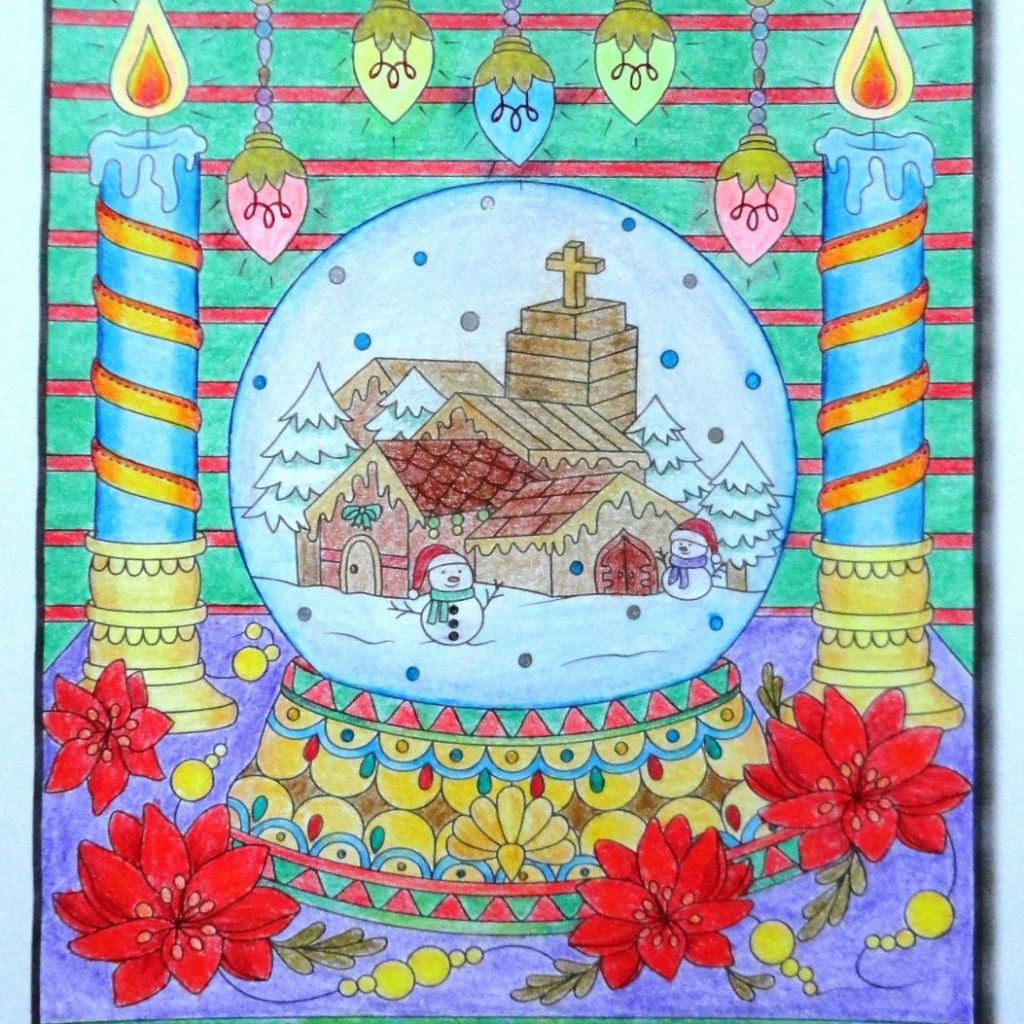 Christmas Coloring Book Jade Summer With Coloured Derwent