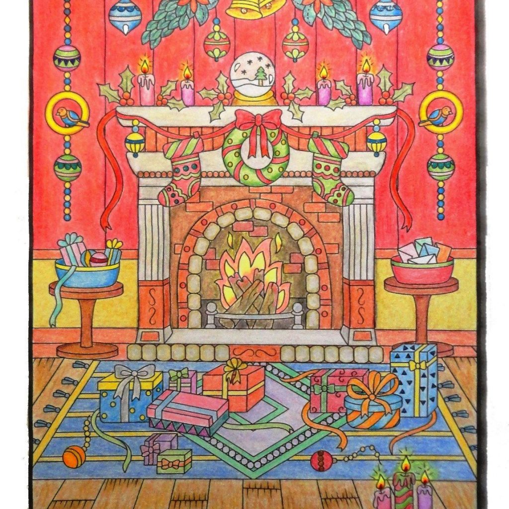Christmas Coloring Book Jade Summer With Coloured Marco Raffine