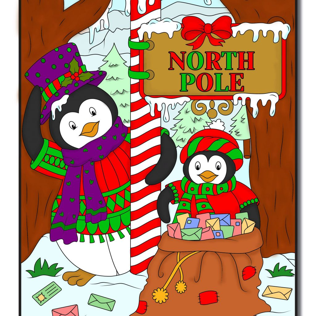 Christmas Coloring Book Jade Summer With Digital Colouring