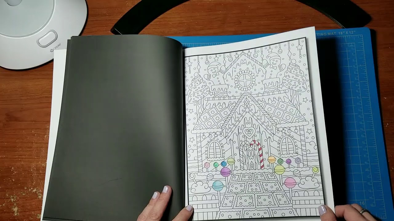 Christmas Coloring Book Jade Summer With Flip Through YouTube