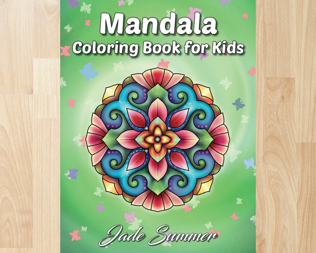 Christmas Coloring Book Jade Summer With Mandala For Kids By Books Etsy