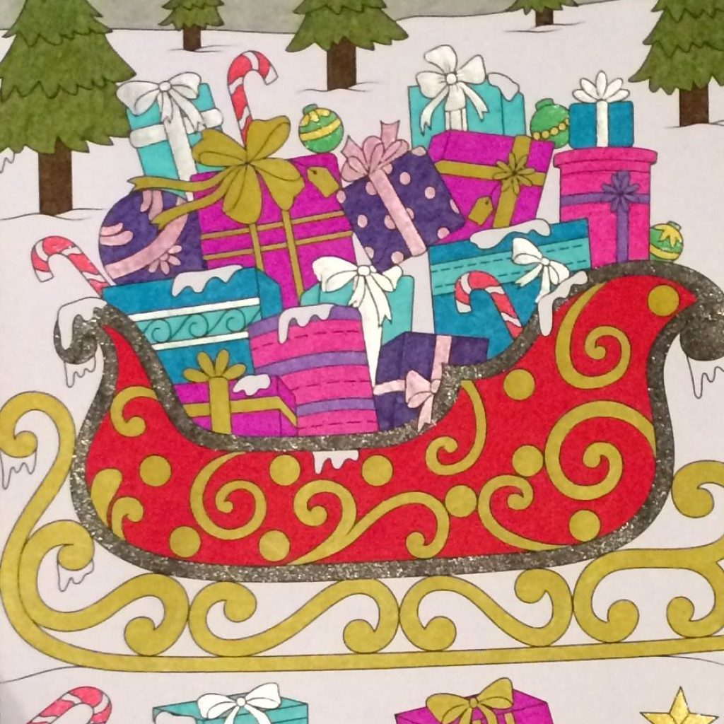 Christmas Coloring Book Jade Summer With Sleigh From Coloured By Laura