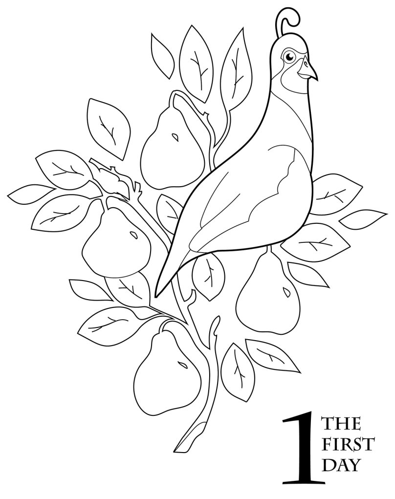Christmas Coloring Book Printable With The 12 Days Of Scholastic Parents