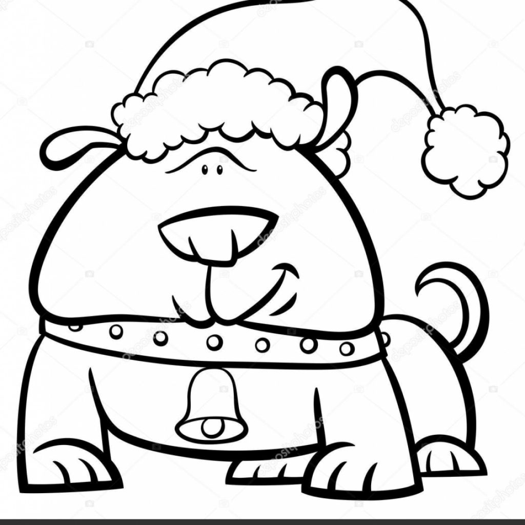 Christmas Coloring Book Vector With Dog On Stock Izakowski 159086320