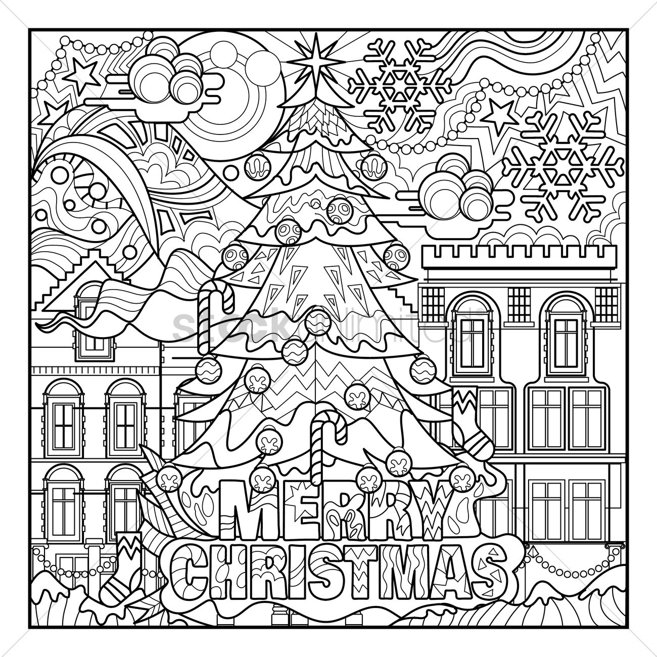 Christmas Coloring Book Vector With Prints Image 2033567 StockUnlimited