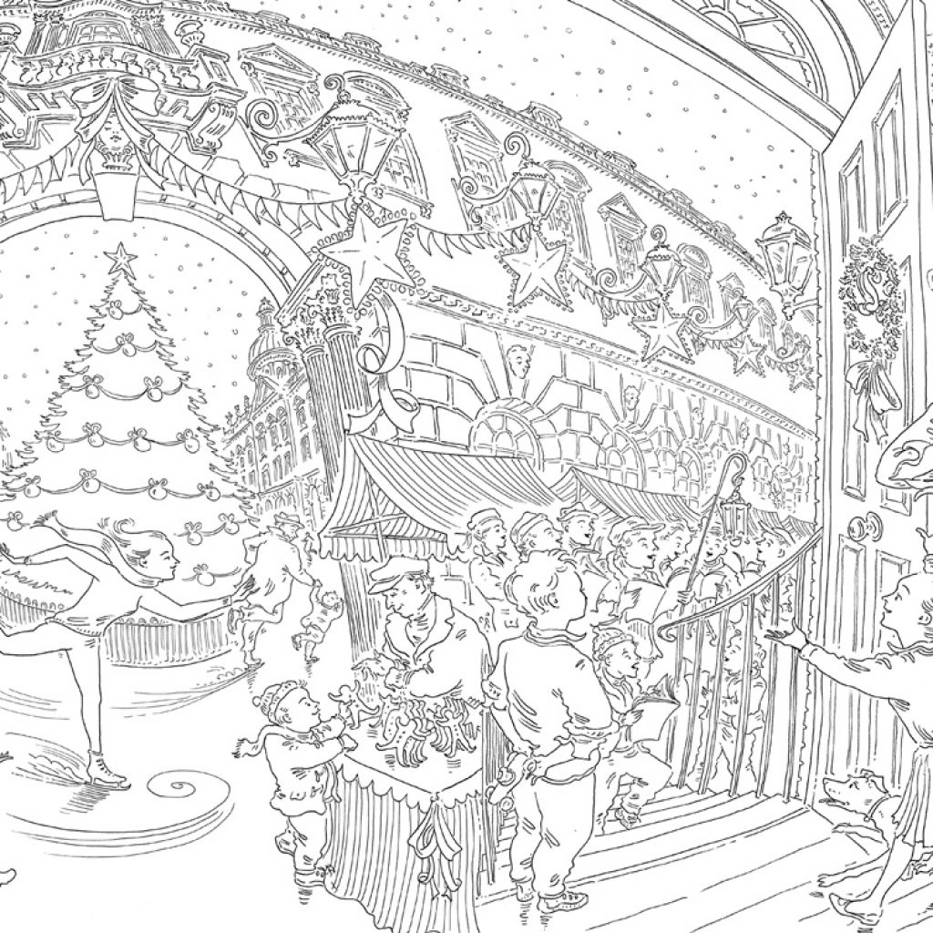 Christmas Coloring Book With Paul Cox S Colouring Free Pattern Download WHSmith Blog