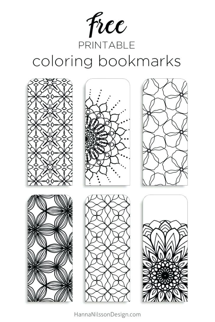 Christmas Coloring Bookmarks With Bookmark Templates 2018 Business Template Idea